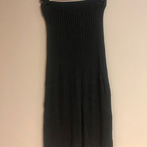 Uniqlo XS dark green maxi skirt or dress